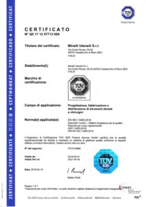 Minelli Utensili - EN ISO 13485 ITA