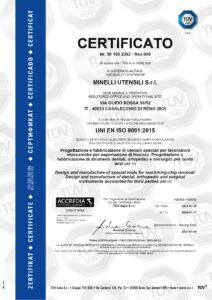 Minelli Utensili - UNI EN ISO 9001-2015